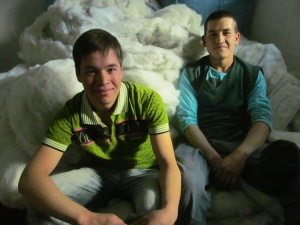 ali & abdulhai with synthetic wool