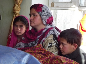 Bereaved Afghan Mother with her 2 Children