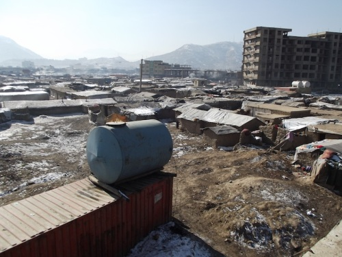One of the many refugee camps in Kabul, home to some of the 600,000 Afghan IDPs